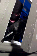 Burglar breaking in can be prevented